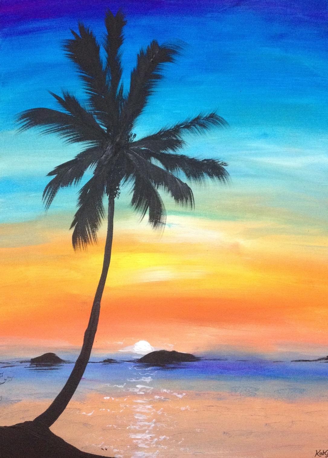 11 £60 Summer Holiday, acrylic on 30x40cm canvas