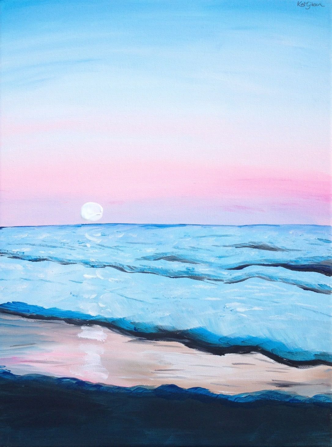 04 £65 Washed Ashore, acrylic on 30x40cm canvas