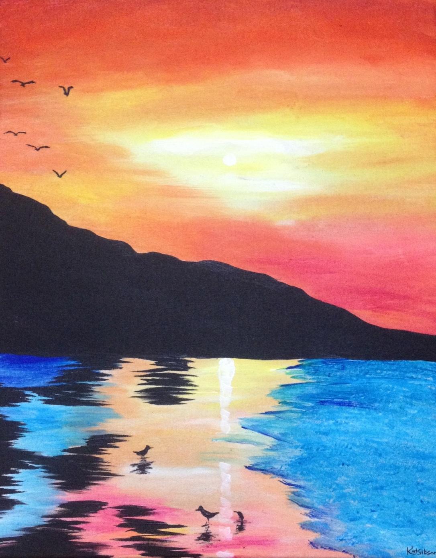 15 £70 Morning, acrylic on 40x50cm canvas