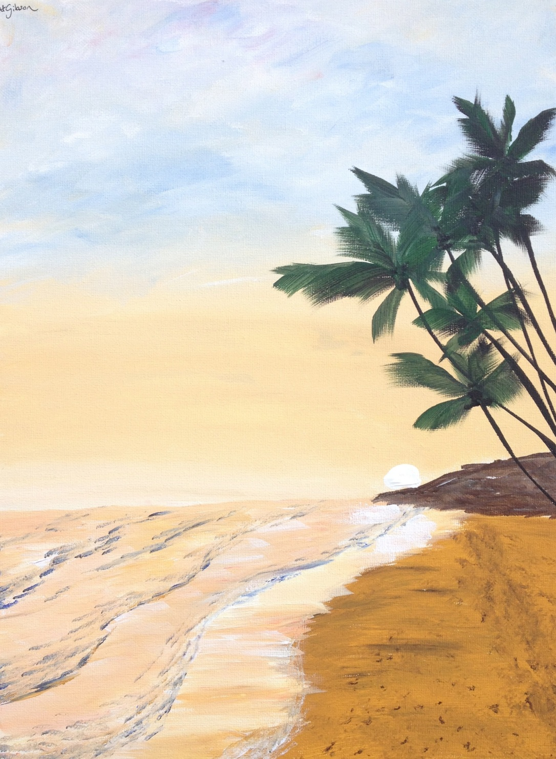 20 £55 Mojito, acrylic on 30x40cm canvas