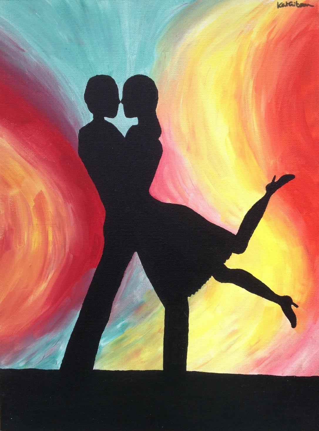 £60 Romance, acryilc on 30x40cm canvas
