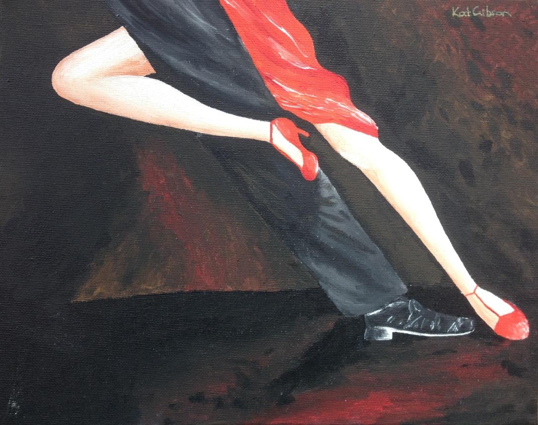 £60 Tango Legs, acrylic on 24x30cm canvas